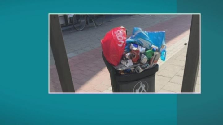 Openbare vuilnisbakken in Lier overvol