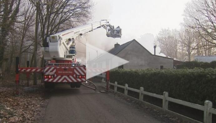 Bewoners dakloos na woningbrand in Wiekevorst
