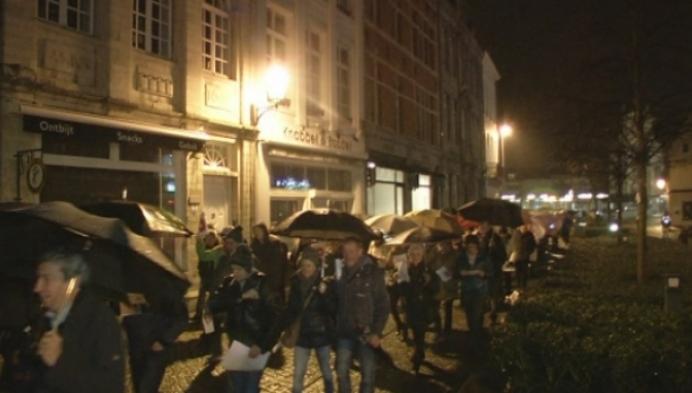 Protestmars tegen proefopstelling Nekkerspoel