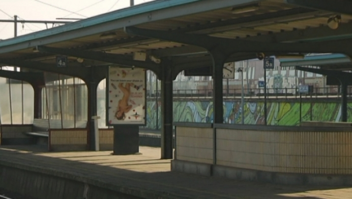 Station Mechelen verlaten door staking ACOD