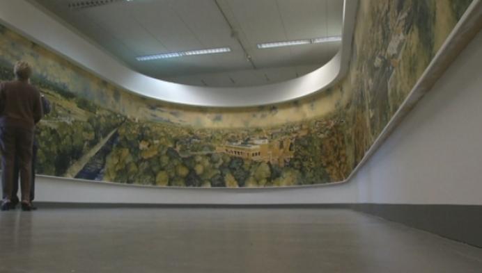 Panoramisch kunstwerk eindelijk op zijn plaats in Turnhout