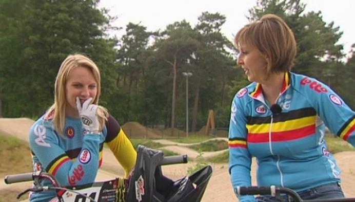 BMX'en met Elke Vanhoof en Els Van Hove