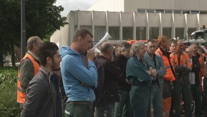 Luid protest Geels stadspersoneel