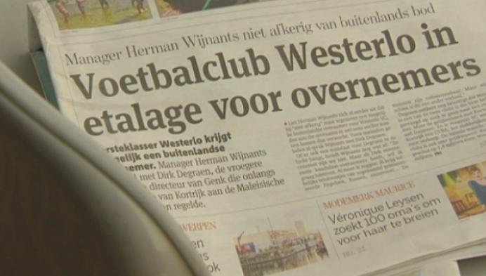 Voetbalclub Westerlo wil liever lokale investeerders