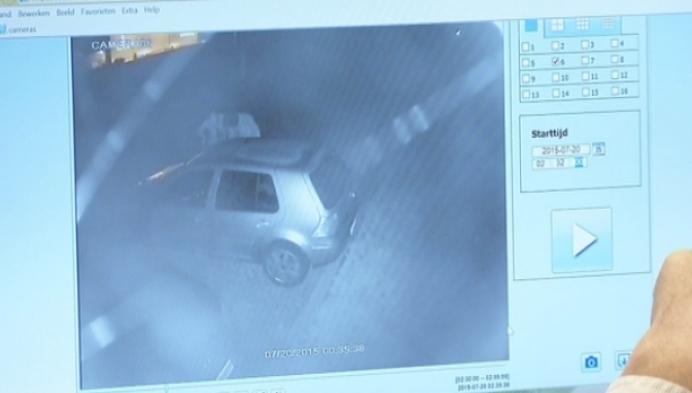 Brandstichters auto snel gevat dankzij camerabeelden