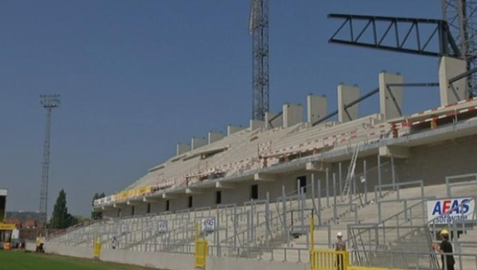 Nieuwe tribune KV Mechelen is nog bouwwerf