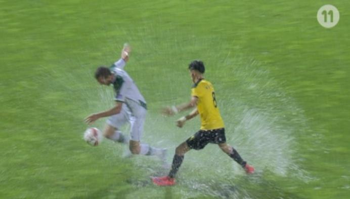 Onweer zorgt voor humor en afgelasting Lierse - Cercle Brugge