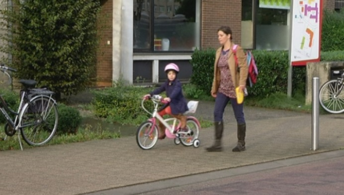 Ontbijt voor wie met de fiets naar school komt