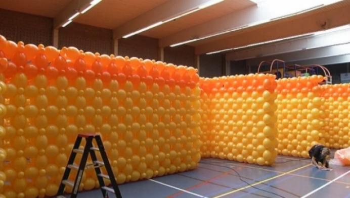 Grootste ballondoolhof staat in Mol