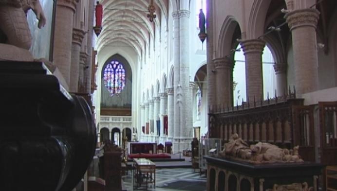 Oudste afbeelding interieur Sint-Katharinakerk