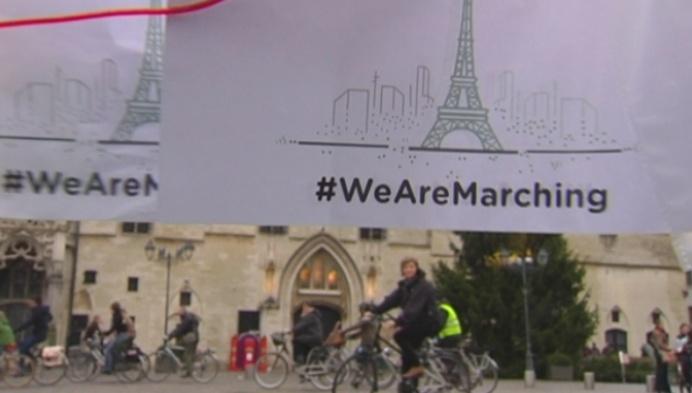 Klimaatmars Mechelen één dag vóór de top