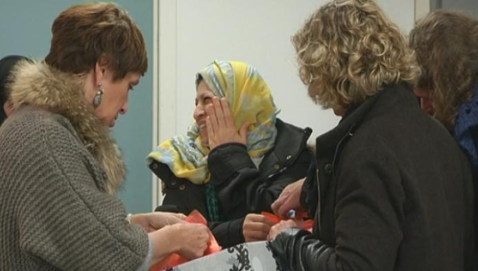 Verzorgingsproducten voor vrouwelijke vluchtelingen