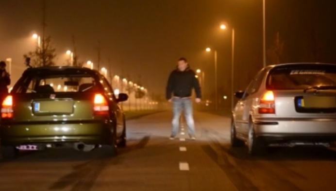 Illegale straatrace op industrieterrein van Grobbendonk