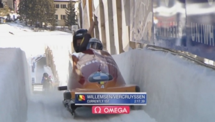 Elfje Willemsen pakt zilver op EK bobslee