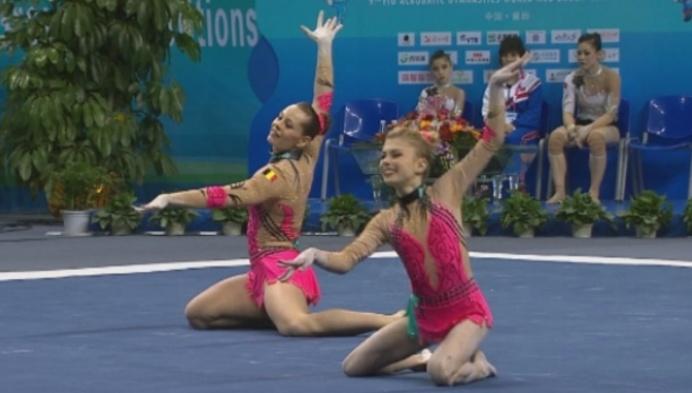 Laurie Philpott en Natascha Van Esch brons op WK