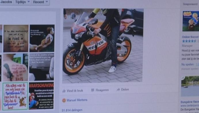 Foto motodief in Mol 30.000 keer gedeeld
