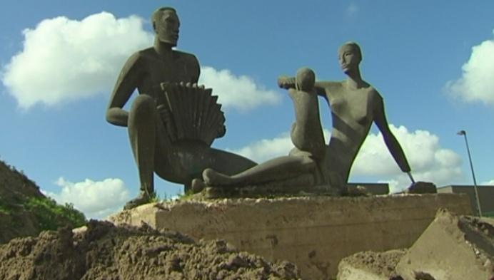 Bezorgdheid om standbeeld in wijk Oud Oefenplein