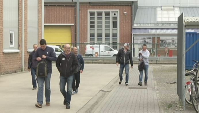 Personeel NMBS-werkplaats Mechelen legt werk neer