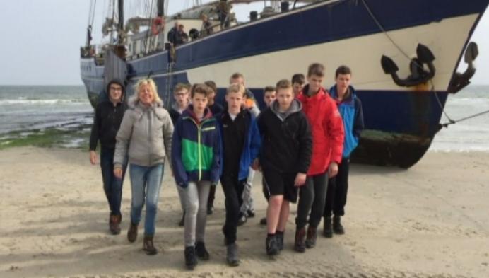 Nijlense schoolkinderen gestrand na ongeval zeilschip
