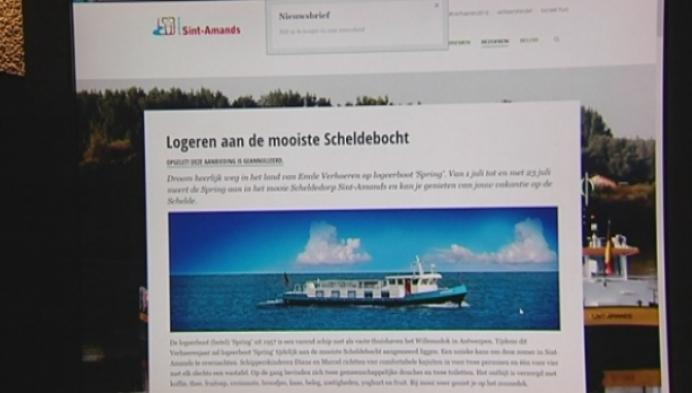 Geen logeerboot ter ere van Emile Verhaeren in Sint-Amands