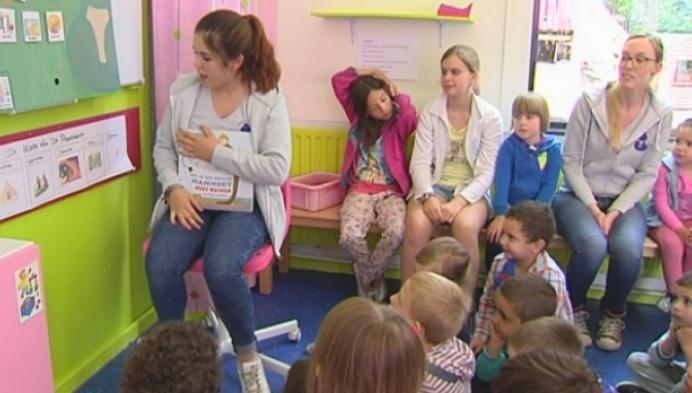 Kinderen onderhouden Nederlands tijdens taalkamp in Mechelen