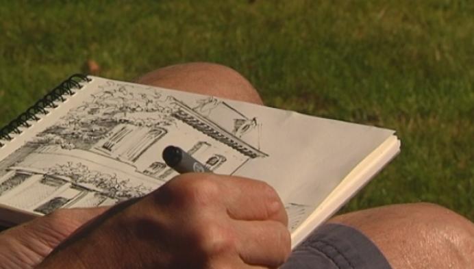 Amateurkunstenaars genieten van zomerschilderdag in Schriek