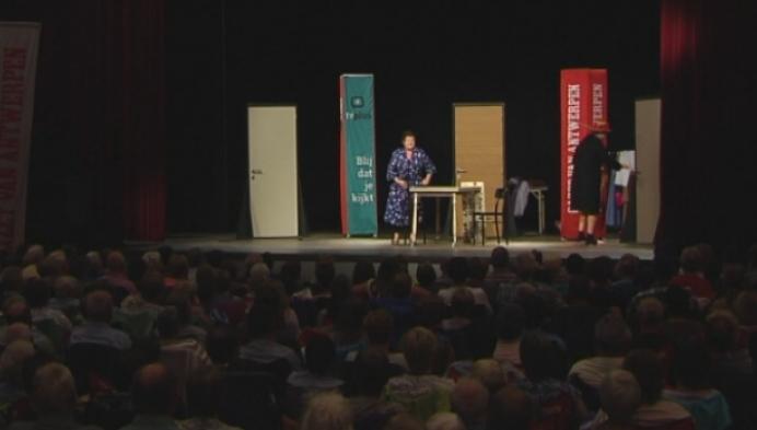 Janine Bisschops voor eivolle Den Dries in Retie