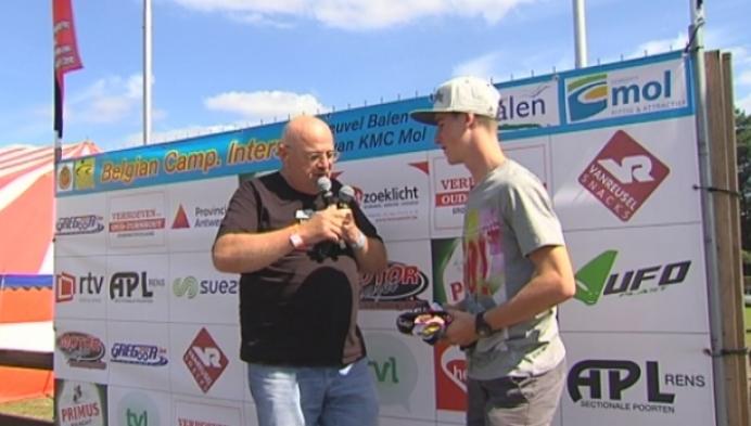 Jago Geerts gehuldigd op motorcross in Balen