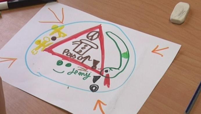 Leerlingen ontwerpen zelf verkeersborden