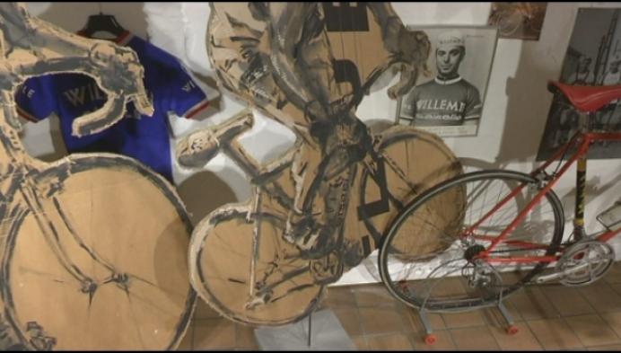 Kartonnen Tom Boonen of Marco Pantani