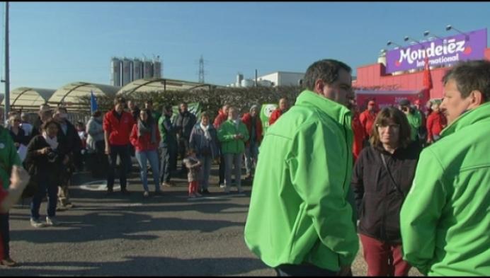 Staking bij Mondelez in Herentals tegen sociale dumping
