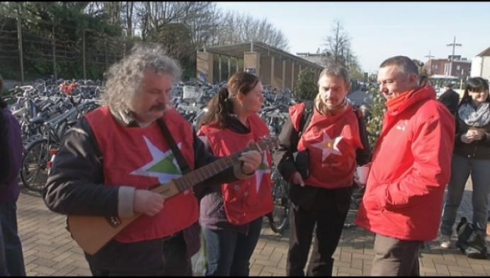 Staking bij Mondelez in Mechelen tegen sociale dumping