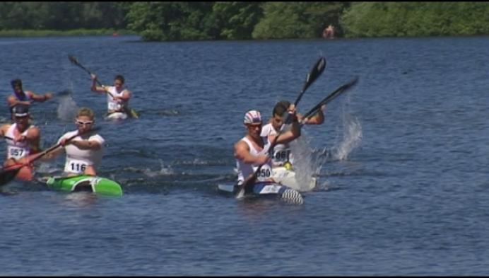 Wereldbekermanche kayakmarathon op domein Hazenwinkel