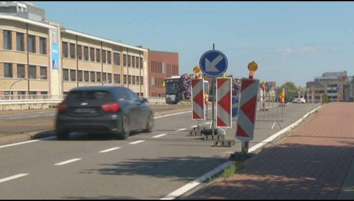 Beschadiging stationsbrug Mechelen deze maand hersteld