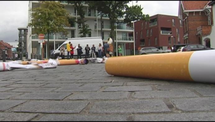 Kempense gemeenten gaan strijd aan met sigarettenpeuken