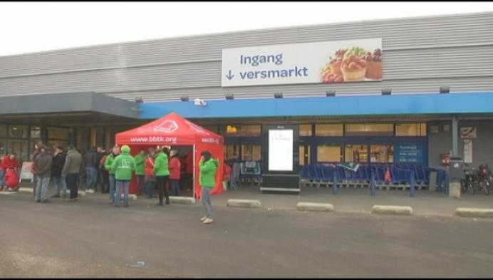 Carrefour hele dag dicht