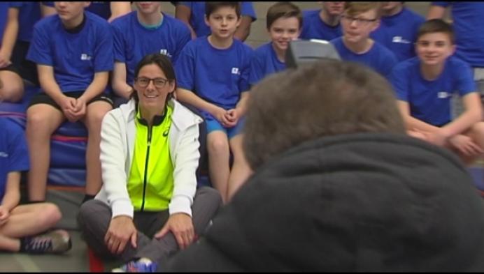 Tia Hellebaut promoot sport bij De Vesten Herentals