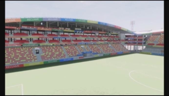 Zo zal de nieuwe hoofdtribune van KV Mechelen eruit zien