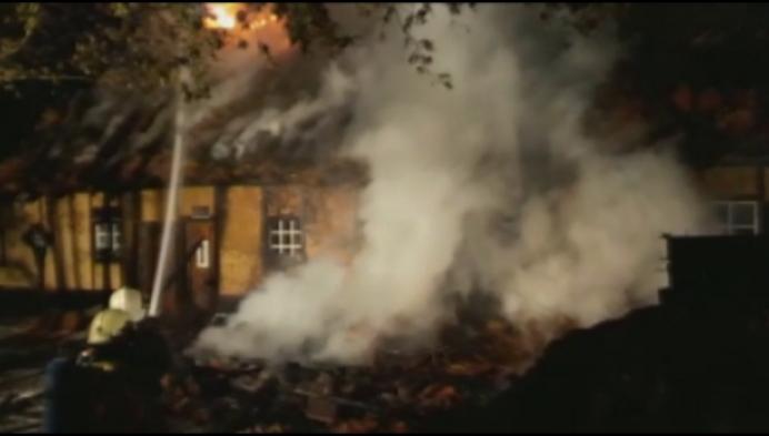 Villa uit 19de eeuw in Heist o/d Berg verwoest door brand