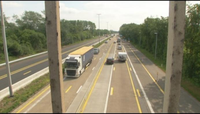 Werken E34 Turnhout wisselen van richting