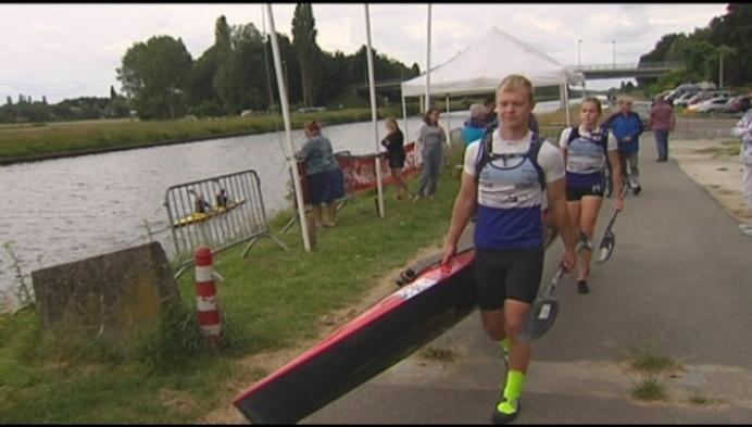 Belgisch kampioenschap K2 Mix kayak in Lier