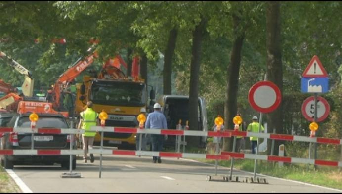 N118 Geel-Retie drie weken afgesloten door sanering FBFC