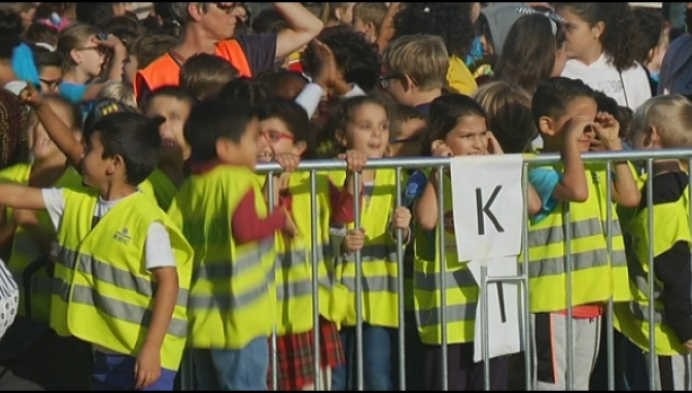 Mechelse schoolkinderen verbreken wereldrecord