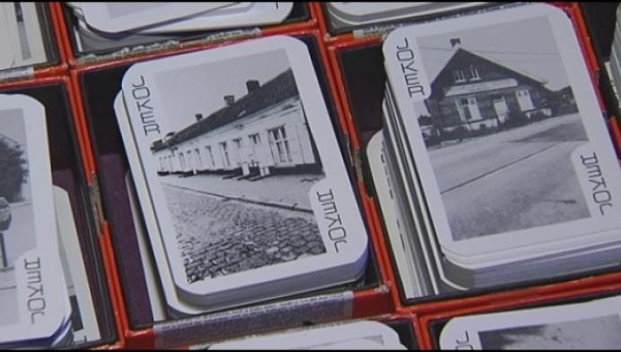 Oude speelkaarten met Heistse foto's te koop