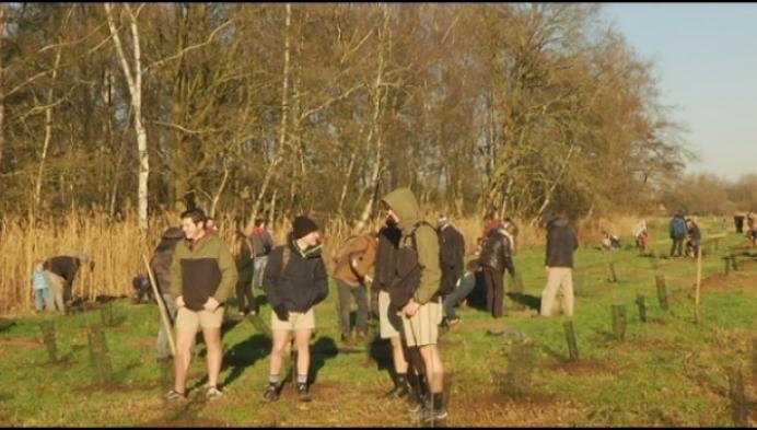 Meer dan 200 vrijwilligers doen mee met boomplantactie