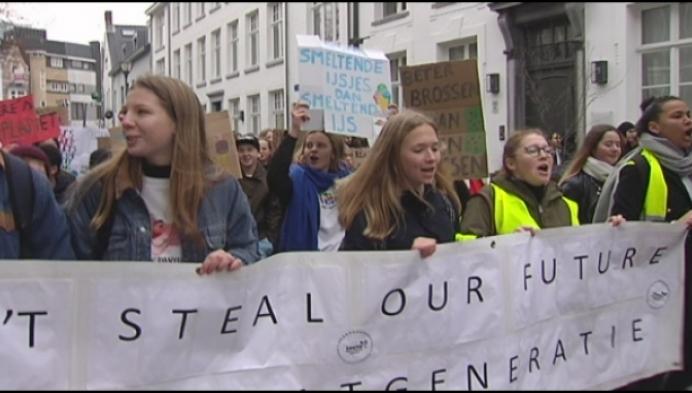 Turnhoutse scholieren houden eigen klimaatbetoging