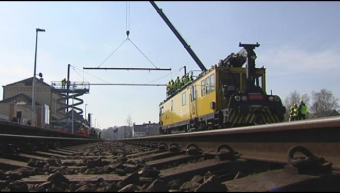 Infrabel start elektrificatiewerken tussen Mol-Hasselt