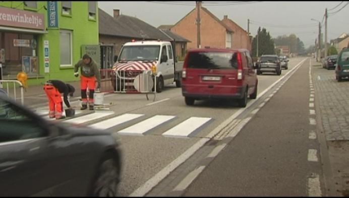 3D-zebrapad in Herselt moet automobilisten doen vertragen