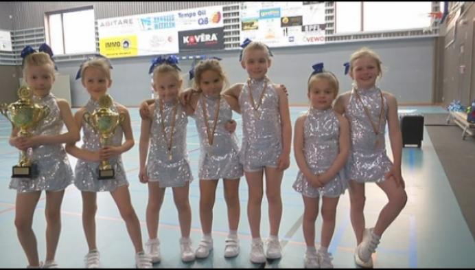 Piepjonge cheerleaders uit Geel zijn Belgisch kampioen