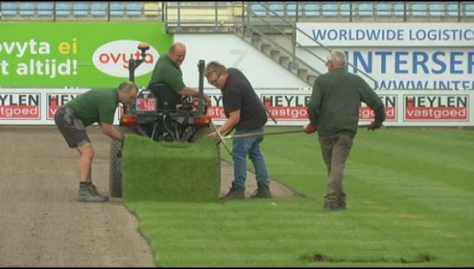 Westerlo legt nieuwe grasmat aan voor nieuw seizoen